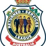 RSL logo - White text