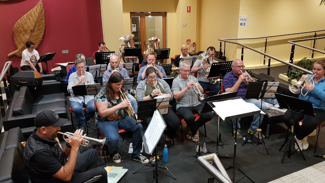 Oakleigh Brass in the library foyer